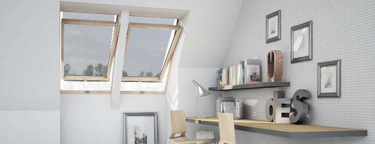 Strešné okno interér