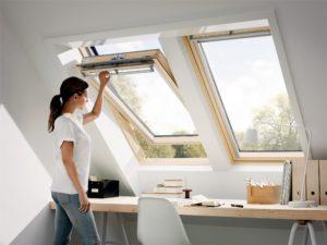 Strešné okno interiér