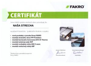 Fakro certifikat